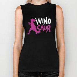 WinoSaur Wino Saur Wine Dinosaur Biker Tank