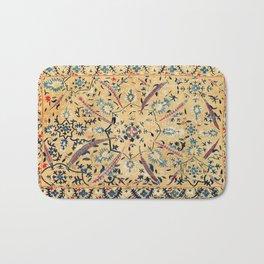 Kermina  Suzani  Antique Uzbekistan Embroidery Print Bath Mat