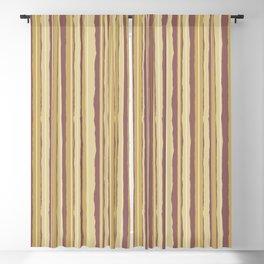Caramel Cream Jiggle Stripes Blackout Curtain
