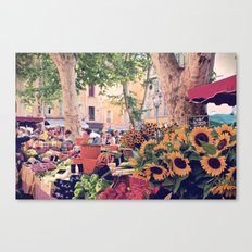 Market Days In France Canvas Print
