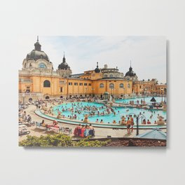 A Day at the Thermal Baths Metal Print