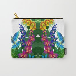Tropical Hummingbird Pattern 1 Carry-All Pouch