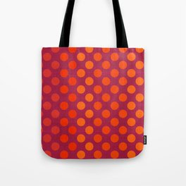 """""""Warm Burlap Texture & Polka Dots"""" Tote Bag"""