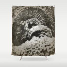 Le Belier Noir - Gerald Robin ©  Shower Curtain
