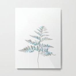 Botanical Tree Fern Metal Print