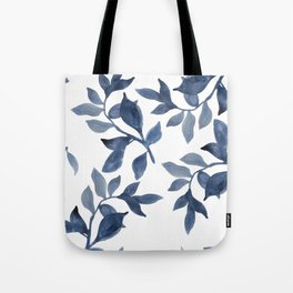Indigo Leaves Watercolour painting Tote Bag