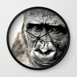 Gorilla Sketch Wall Clock