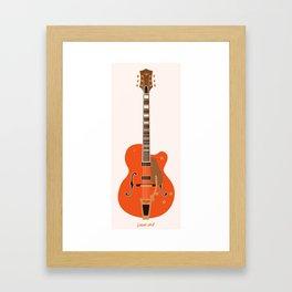 Chet's Guitar Framed Art Print