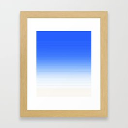 Sky Blue White Ombre Framed Art Print
