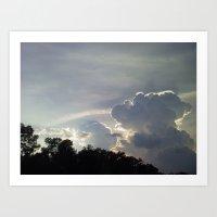 Fluffy Clouds 1 Art Print