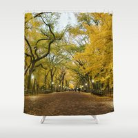 literary Shower Curtains featuring Central Park New York City by Vivienne Gucwa