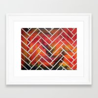 herringbone Framed Art Prints featuring Herringbone by Alyssa Clancy