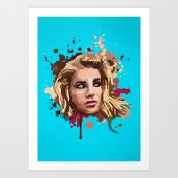 lana Art Prints featuring Lana by Devis Pederzini