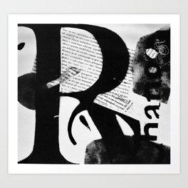 Abstract Letter Art 01 Art Print