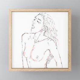 Female Pleasure erotic minimalist art Framed Mini Art Print