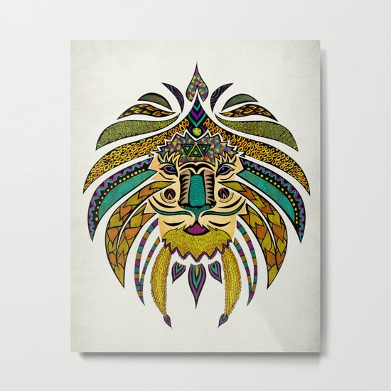 Emperor Tribal Lion Metal Print