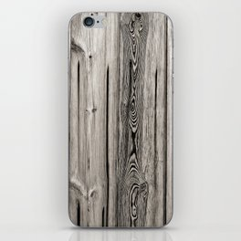 Black white and grey  wooden floor iPhone Skin