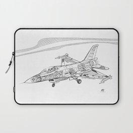 F16 Cutaway Freehand Sketch Laptop Sleeve
