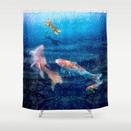 The Koi Damsel Shower Curtain