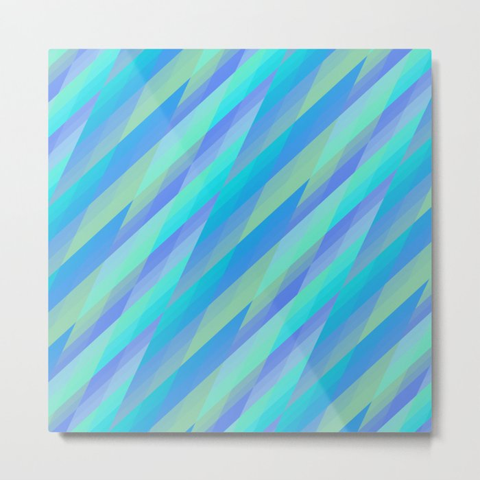 Harmony, geometric patterns abstract in pastels Metal Print