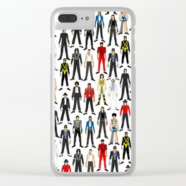 Beat IT Pattern Clear iPhone Case