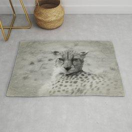 Portrait of a female Cheetah's head Rug