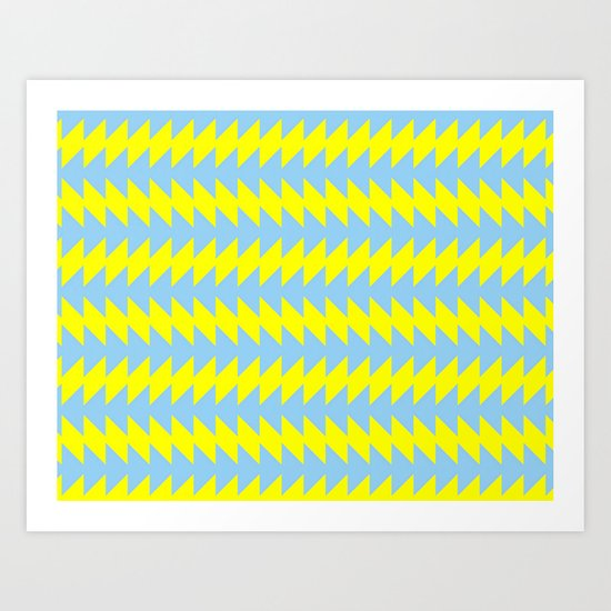 Van Zanen Yellow & Blue Art Print