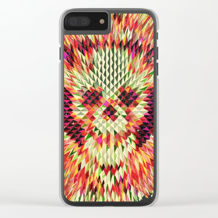 Geo Skull Clear iPhone Case