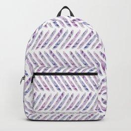 Herringbone - in purple watercolour Backpack