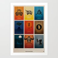 movies Art Prints featuring Spielberg Movies by Alain Bossuyt