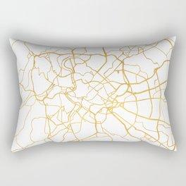 ROME ITALY CITY STREET MAP ART Rectangular Pillow