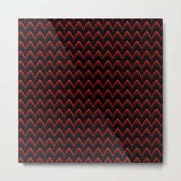 Luxury red metal wave Metal Print