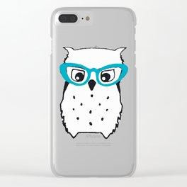 Cute Owl Glasses Clear iPhone Case