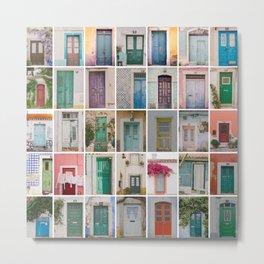 Travel Door Collection Metal Print