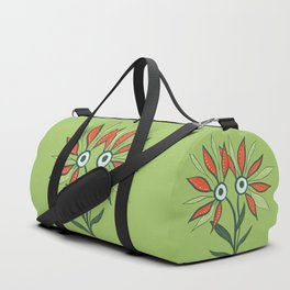 Cute Eyes Flower Monster Duffle Bag