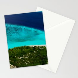 Deserted Coral Island. Maldives Stationery Cards