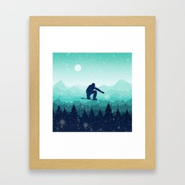 Snowboard Skyline II Framed Art Print