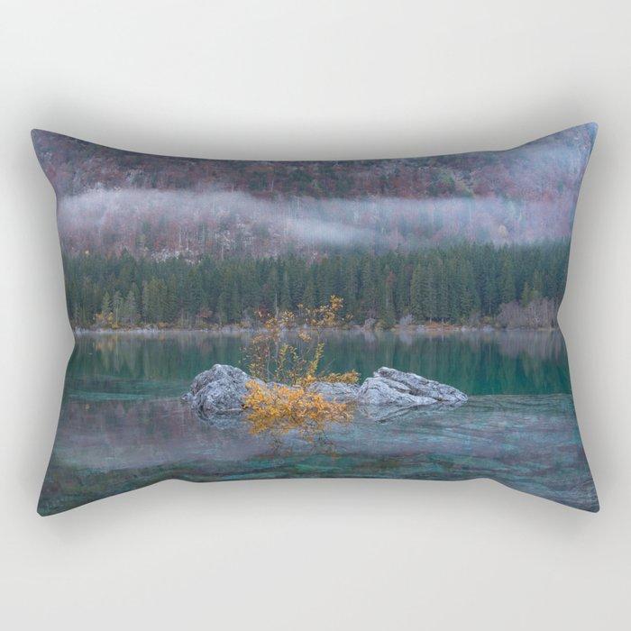 green yellow 3 Rectangular Pillow