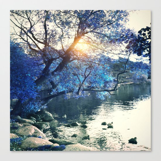 Hope in blue Canvas Print