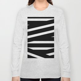 Abstract black & white Lines Stripes Pattern - Mix and Match with Simplicity of Life Long Sleeve T-shirt