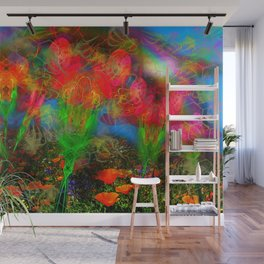 Wild Poppy Hallucintion Wall Mural