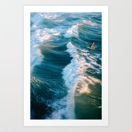 Ride the waves Art Print