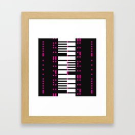 Licorice Bytes, No.16 in Black and Pink Framed Art Print