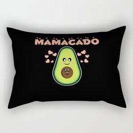 Mamacado Cute Avocado Pregnant Mom Gift Rectangular Pillow