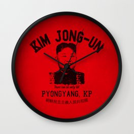 Kim Jung-Un University Wall Clock
