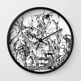 Botanic Curves Wall Clock