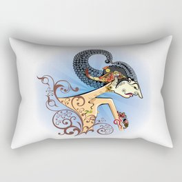 Wayang or shadow puppets Rectangular Pillow