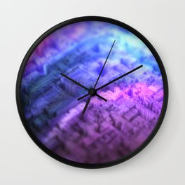 Colorful abstract 3d texture of small blocks Wall Clock