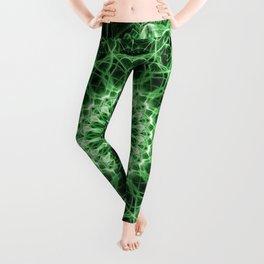 Detailed green mandala Leggings