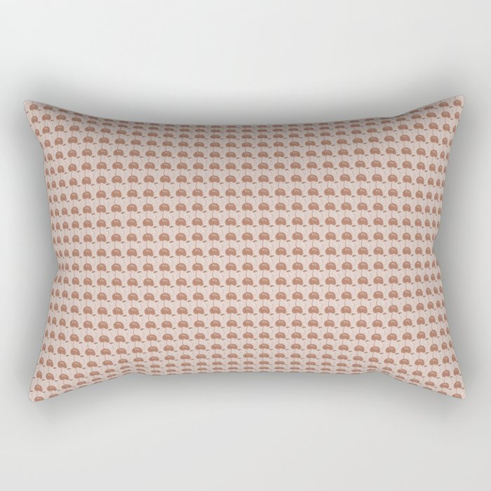 Sherwin Williams Cavern Clay Warm Terra Cotta SW 7701 and Light Brown Floral Pattern 1 Rectangular Pillow